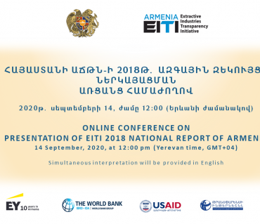 Online Conference on Presentation of EITI 2018 National Report of Armenia